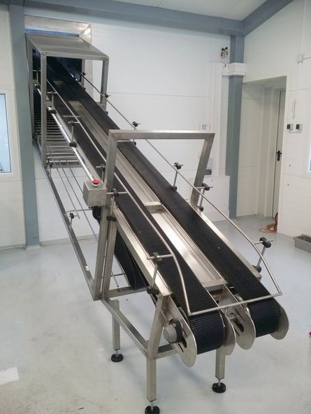 Two-level feed conveyor - transporter
